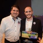 Alex Bonareti, do Beto Carrero World, e Marcos Pessuto, da Flytour