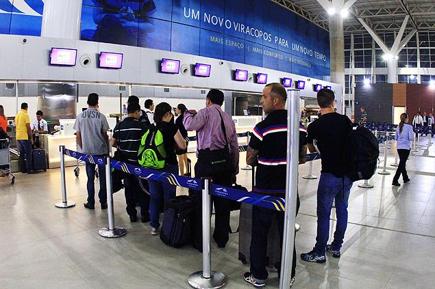 Aeroporto Internacional de Viracopos, na cidade de Campinas, interior de So Paulo