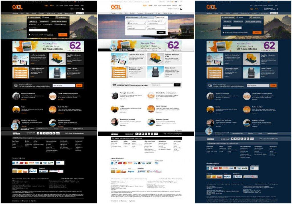 Novo site apresenta variaes de contraste (preto, branco e azul)