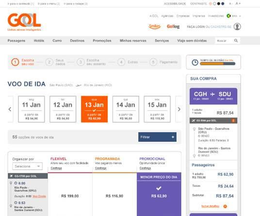 os clientes encontraro menus, calendrios, filtros de busca e formulrios em um novo formato de exibio