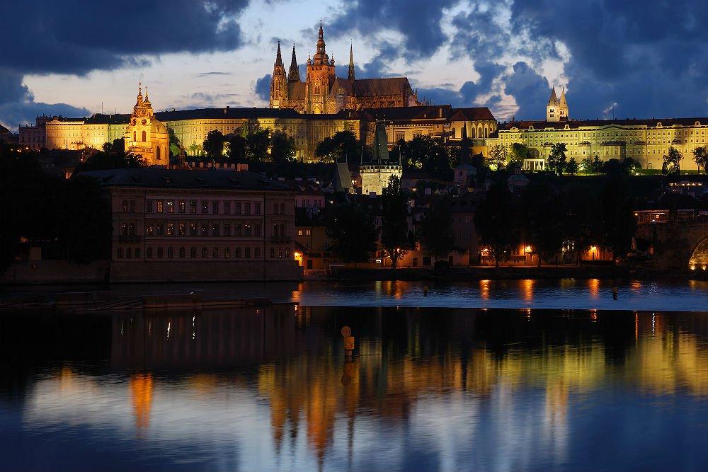 Vista panormica do castelo de Praga