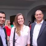 Gilson Azevedo, da Copa Airlines com Bruna Castro e Adriano Gomes, da CVC