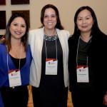 Kelly Castange, da Aviesp, Juliana Luengo, da Bedsonline, e Aline Haranaka, da Aviesp