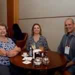 Cleide, da Cletur Viagens e Turismo, Claudia Fernandes e Alexandre Fernandes, da Tilli Viagens e Turismo