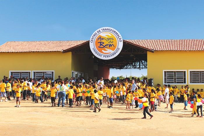 Centro de atividades da ONG onde so realizadas diversas atividades (Foto: Divulgao)