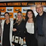 Natalia Laudisio, do ME, com equipe da Movida, comandada pelo diretor comercial Jamyl Jarrus