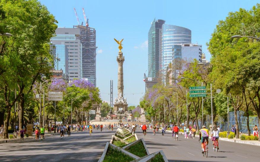Paseo de la Reforma, uma das principais vias da Cidade do Mxico