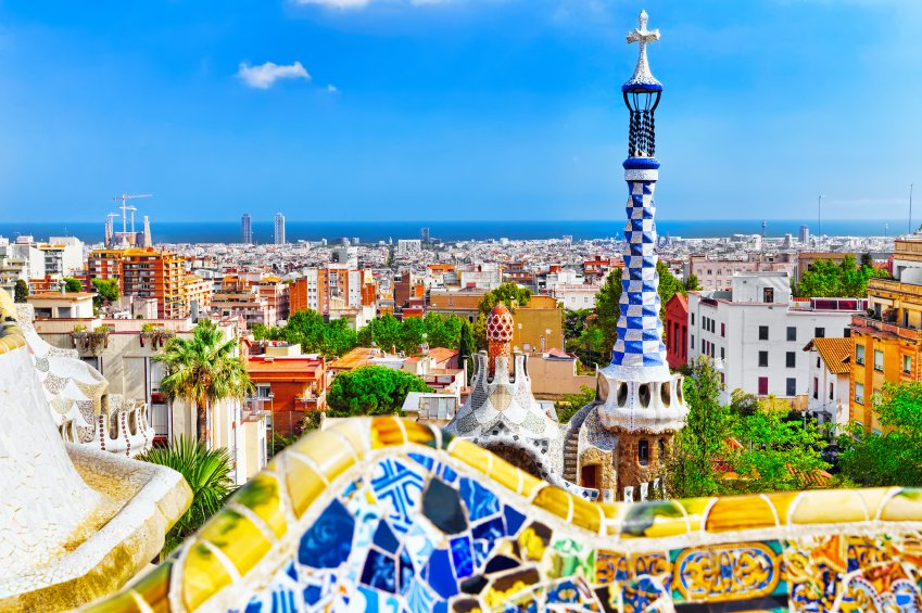 Vista da cidade de Barcelona a partir do Park Guel
