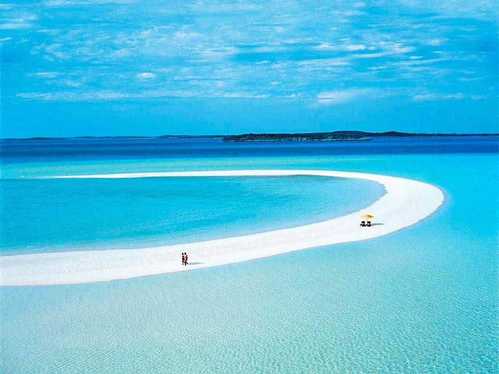 Banco de areia em Musha Cay - Exuma - Bahamas