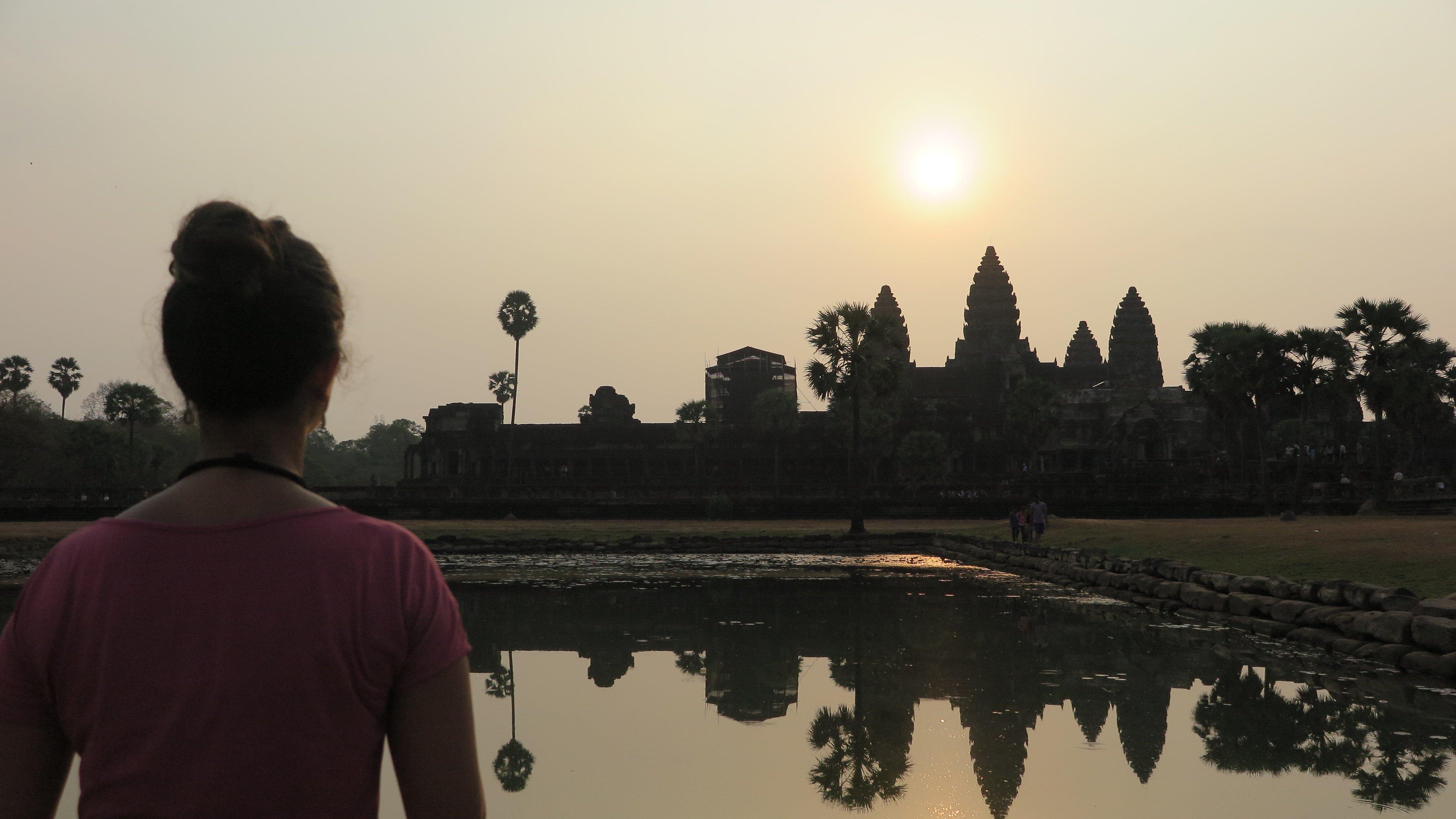 Themy em AngkorWat, no Camboja