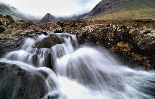 As piscinas naturais têm várias cachoeiras (Foto: FS999/Creative Commons)