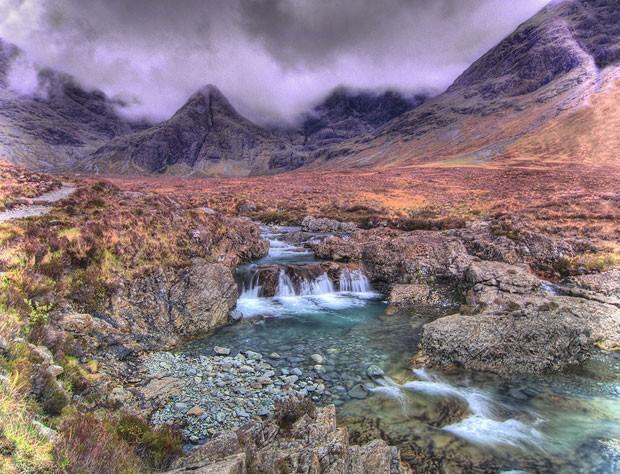 As Fairy Pools, ou piscinas das fadas, na Escócia (Foto: FS999/Creative Commons)