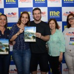 Nas pontas, Renata Leite, do Iberostar, e Ericka Pierry, da Boutique do Turismo, concluiem venda para Iberostar
