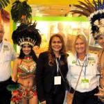 Oreni Braga, presidente do Amazonastur, entre Roy Taylor e Rosa Masgrau, do ME