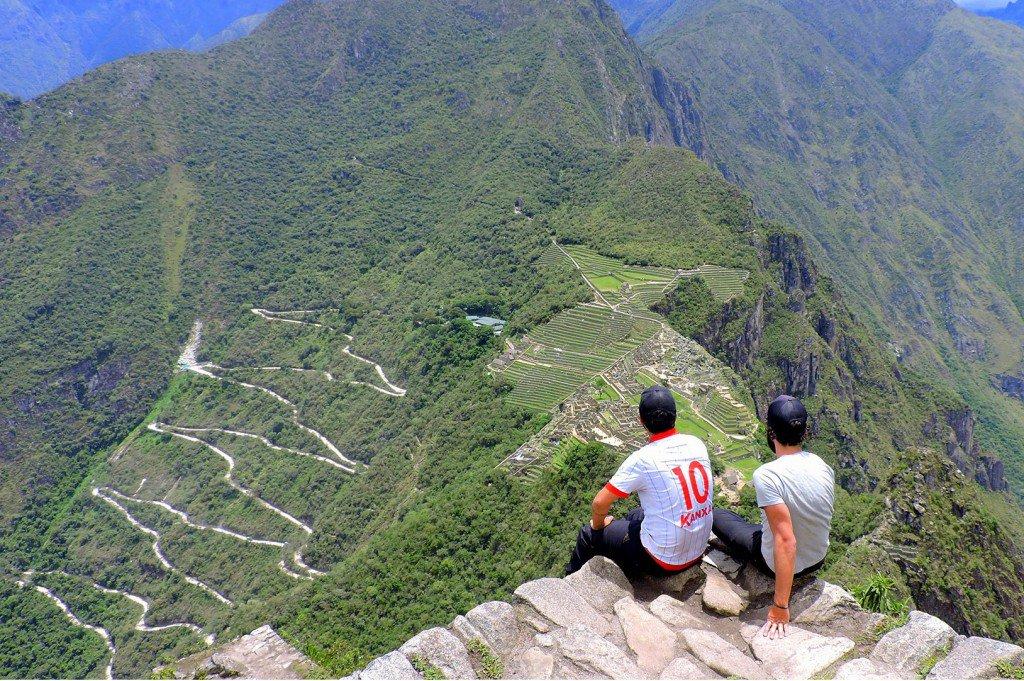 A dupla em Macchu Picchu, no Peru