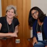 Dora Martins, da Lumi Viagens, e Luciane Oliveira, da Viaje Com Classe