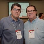 Marcos Lucas, da Vencestur, e Pitol, da Pitol Viagens e Turismo