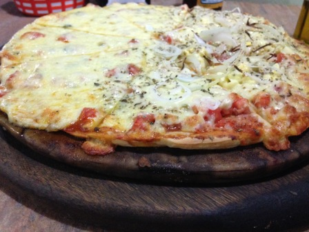 Pizza na Pedra (Foto: Gabriela Mendes)