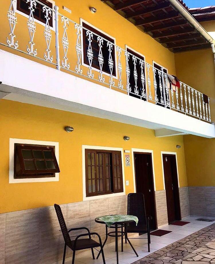 As cores da Pousada são inspiradas na coloração da época colonial. ainda muito presente na cidade de Paraty