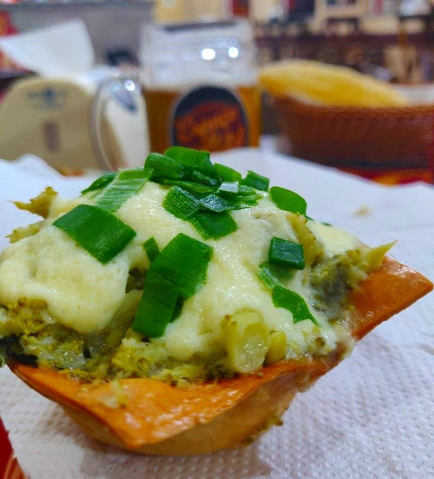 Pastel Assado de Brócolis - Espaço do Pastel - Brotas SP