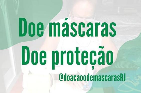 Doação de Máscaras no Rio de Janeiro